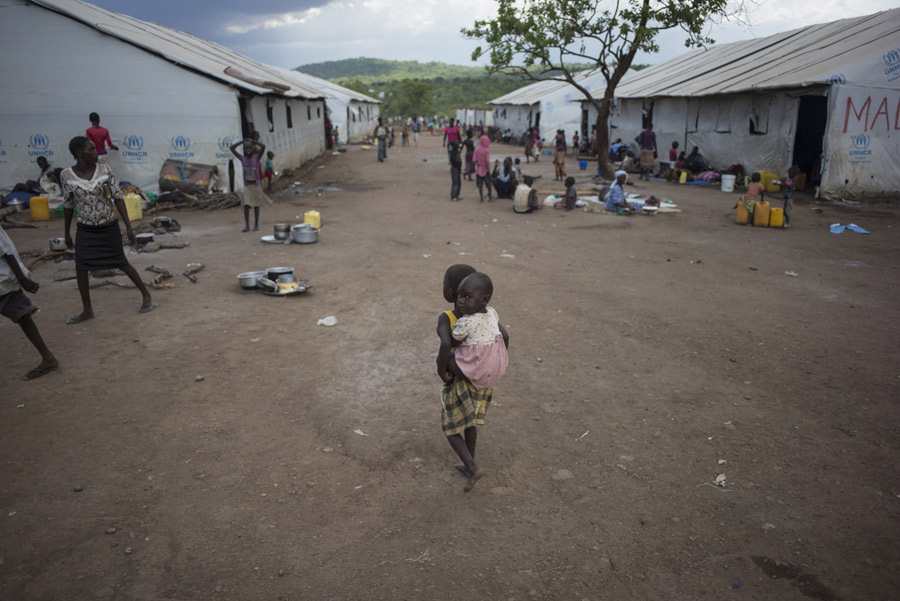 Imvepi Settlement is home to 95,000 refugees with between 600-1200 people arriving everyday. Photo: Kieran Doherty/Oxfam