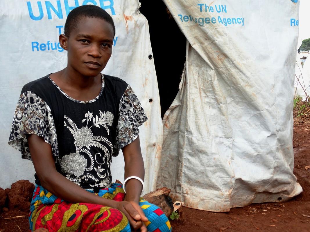 A Burundi refugee in Nyarugusu refugee camp, Tanzania.