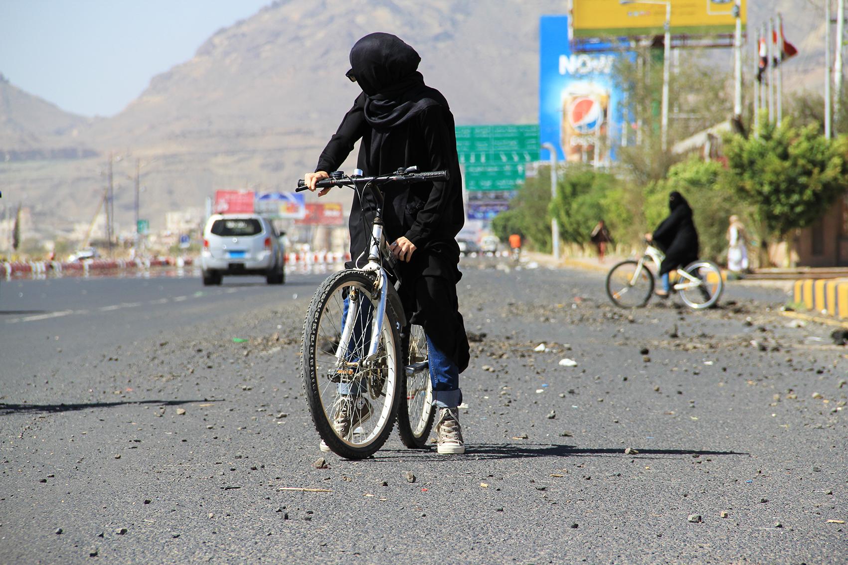 Bike for Yemen. Photo credit: Bushra al-Fusail