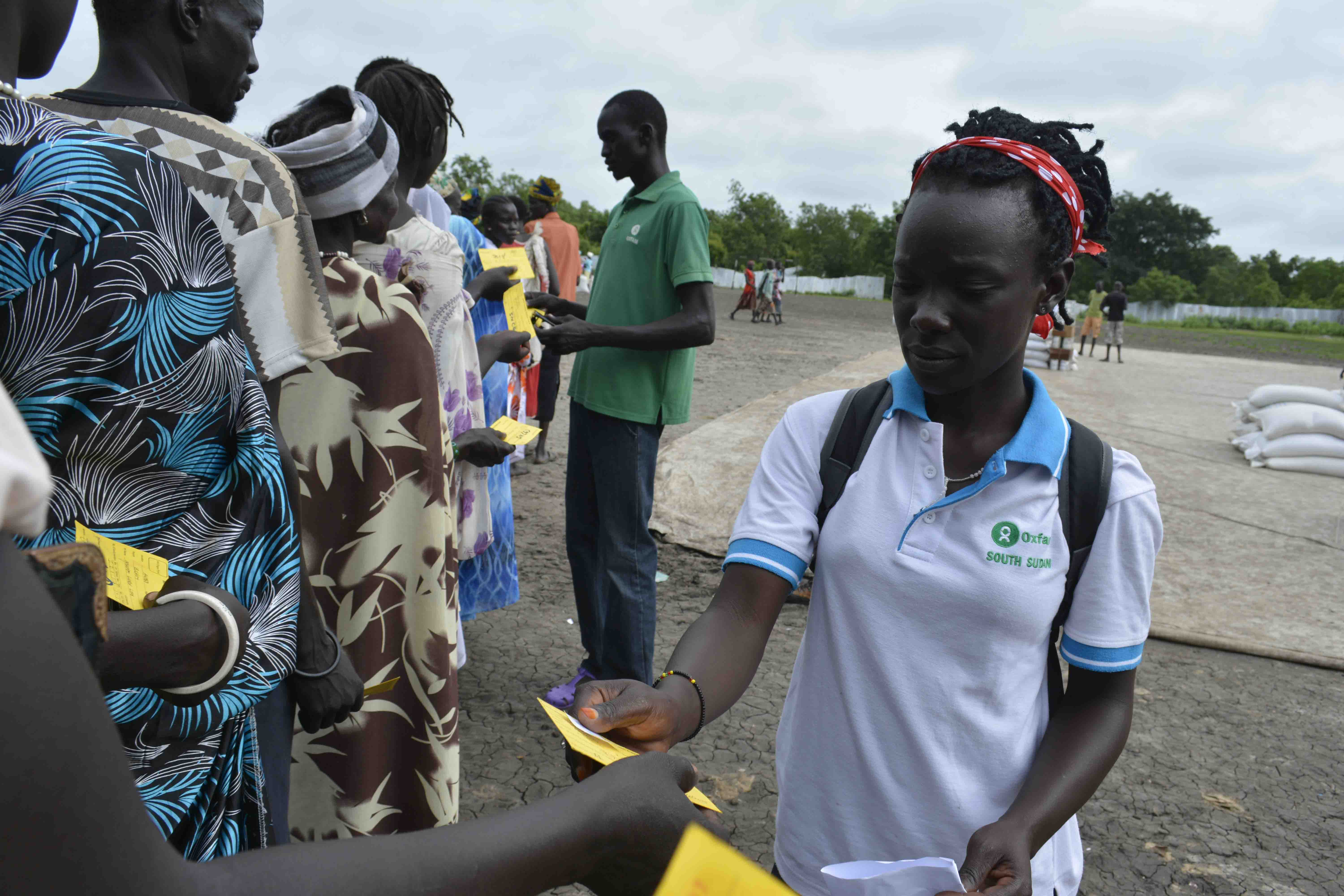 Florence Namaru keeps her hope alive for South Sudan. Photo credit: Stella Madete/ Oxfam