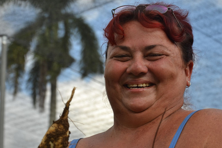 woman farmer using solar energy cuba