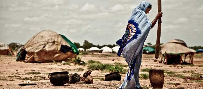 Malian woman at the Mentao Nord camp in Burkina Faso. Photo: Pablo Tosco/Oxfam