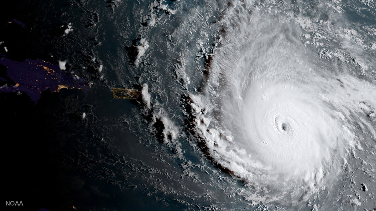 Satellite image of Hurrican Irma. Credit: NOAA via Reuters
