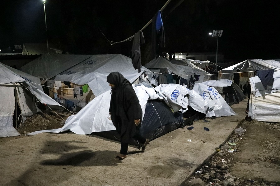 . Some women are forced to share tents and containers with unrelated men, putting their privacy and safety at risk.