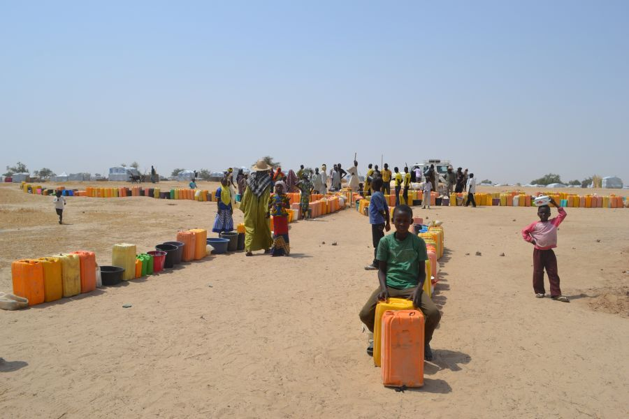 Des réfugiés nigérians dans le camp de Sayam Forage, géré par l'ONU, dans la région de Diffa, au Niger.