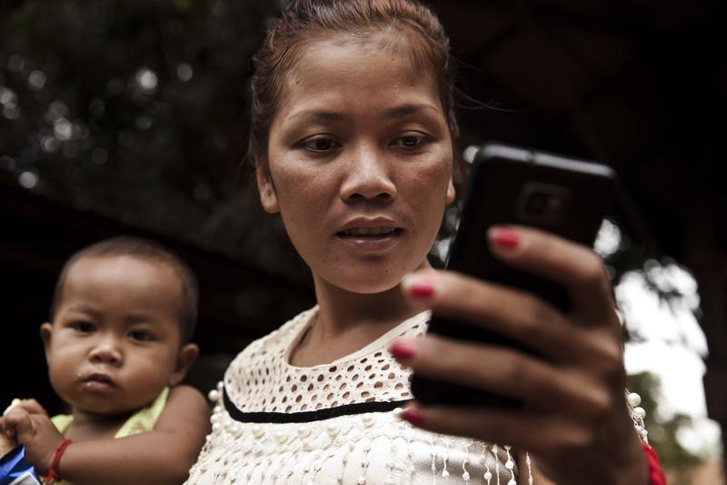 Ping Chamroeun  is from TampounRoung Thom village, Ratanakiri. Photo: Panos Pictures/ Patrick Brown