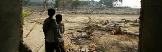 Indonesia tras el tsunami de diciembre de 2004. Autor: Jim Holmes/Oxfam.