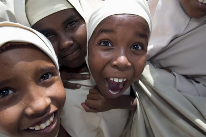 Primary school students in Galkayo. Photo credit: Petterik Wiggers.