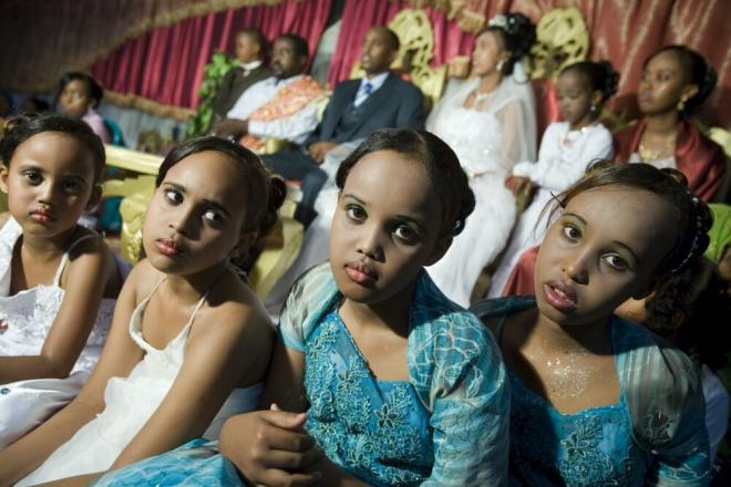 Girls sitting at a wedding ceremony, in Somalia. Photo credit: Petterik Wiggers.