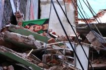 Earthquake in mexico a Frida Kahlo fall down
