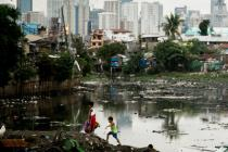 Barrio de chabolas de Tondo, en Manila, Filipinas, 2014.