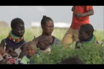Oxfam Ambassador Helena Christensen visits Turkana, Northern Kenya
