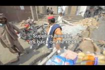 Pakistan check distribution timelapse: Oxfam cash-for-work