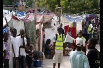 Oxfam distribution of hygiene and shelter materials in Haiti