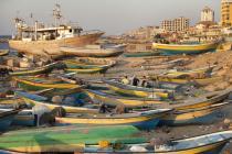 Barcos pesqueros en Gaza