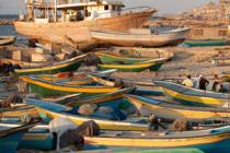 Bateaux de pêche à Gaza. Photo: David Levene/Oxfam