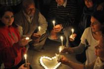 Veillée de soutien au peuple syrien organisée en 2013 à Gaza