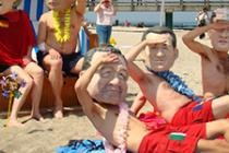Oxfam's 'Big Heads' have been cavorting away their time in Germany on the beach outside the G8 Summit highlighting this potentially wasted opportunity. Photo Credit: Craig Owen/Oxfam GB