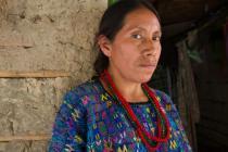 Sofia Tista Sis en su casa. Foto: Coco Mcabe/Oxfam