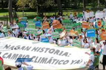 Movilizaciones durante COP20 que se ha reunido en diciembre en Perú para tratar temas de cambio climático. Foto: Oxfam