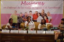 """Foro público """"Mujeres en defensa de la Vida, el Agua y el Territorio"""" organizado con el apoyo de Oxfam. Foto: Oxfam"""
