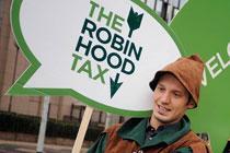 Robin Hood Campaign stunt. Photo: Oxfam