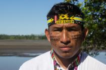 Teddy Guerra is the charismatic and outspoken 30-year-old leader of the Quechua community in the town of Nuevo Andoas.