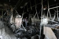 Classrooms destroyed by tank shells, in Gaza's University College of Applied Sciences (UCAS). Photo: Iyad Al Baba/Oxfam