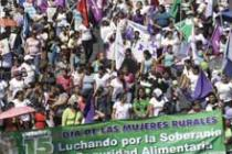 More than 1,000 women marched for their rights on World Food Day in El Salvador.