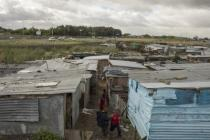 A squatter camp in South Africa