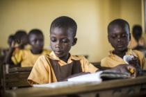 Children attending school in Northern Ghana, December 2015