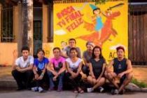 Young activists who are part of the ACTÚA, Detén la violencia campaign in Bolivia.