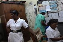 Nurses in Korle Bu teaching hospital, Accra, Ghana (2010). Photo: Abbie Trayler-Smith/Panos