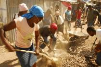 Cash-for-work program in Haiti, 2010.