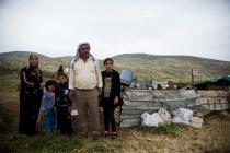 A Palestinian family, Jordan Valley