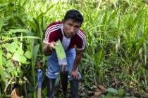 Teddy Guerra Magin es el carismático y franco líder de la comunidad quechua en la localidad de Nuevo Andoas.
