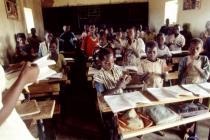 Salle de classe au Burkina Faso. Photo : Tomas Abella/Oxfam