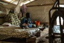 Malamokoyen and her son, in a camp for displaced people in Castor-Bangui, CAR.