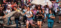 manifestation à El Salvador