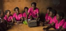 Members of Wezesha Jamii attend a group meeting in Mathare Ward, Mashimoni Village, in Nairobi, Kenya. Photo: Katie G. Nelson/Oxfam