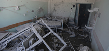 Hospital room destroyed by Gaza airstrikes