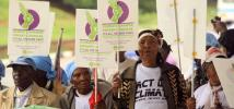Thousands of people in Nairobi marched last week to call for climate justice. Photo: Oxfam
