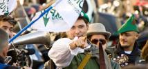 Manifestation en faveur de la taxe Robin des bois, à Paris. Photo : Oxfam