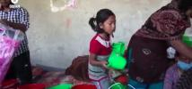 Nepal earthquake: Amazing little girl helps prepare Oxfam hygiene kits
