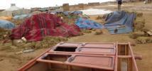 Dakhla refugee camp, near Tindouf, Algeria. In 2015, massive floodings cause unprecedented destruction in the Sahrawi refugee camps.