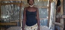 Senia Terbil, 26, married and mother of two. She lives in the Community of Castambie, near Port Salut, Haiti. Photo: Pablo Tosco/Oxfam