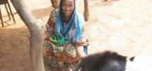 Awa Oumar, Oxfam's program beneficiary in Bria, Central African Republic.