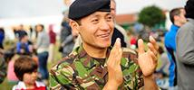 Trailwalker 2010 South Downs, where the Gurkha regiment still participates. Photo credit: Richard Wearne /Oxfam.