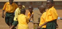 Water point at a school at the Firestone plantation concession area. Credit: Government of Liberia