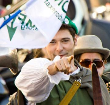 Robin Hood Tax stunt, Paris (October 2011)